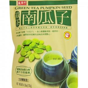 台湾 盛香珍 绿茶南瓜子 130g-0