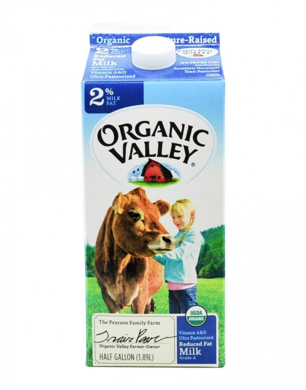 Organic Valley 2%脱脂牛奶 1.89L-0