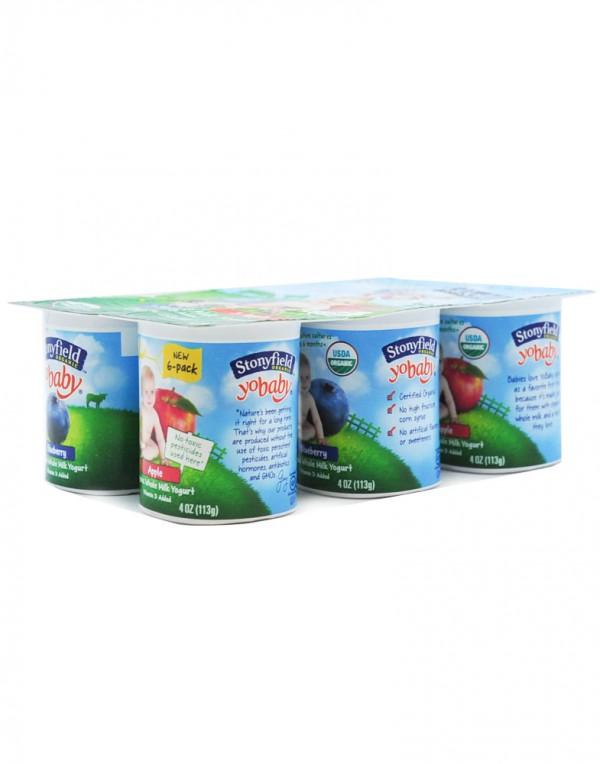 Stonyfield 3蓝莓&3苹果混装酸奶 1.5lb-0