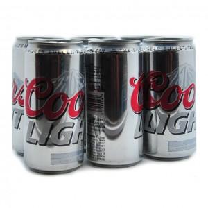 银子弹Coors 听装啤酒(6听)16fl oz-0