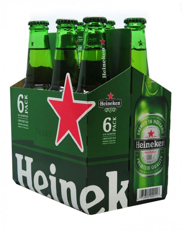 喜力Heineken 啤酒(6瓶装)72fl oz-0