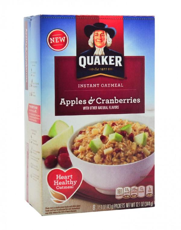 Quaker 燕麦片 (苹果,蔓越莓) 344g-0