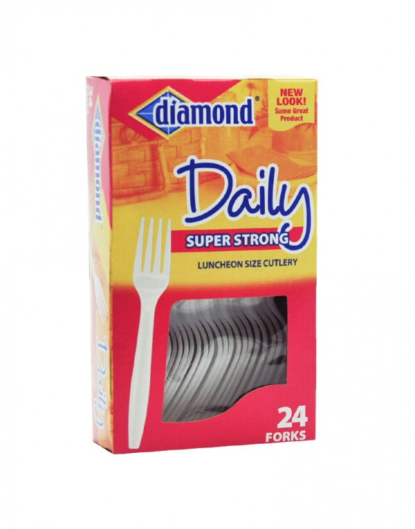 Diamond Daily 塑料叉子 24个-6832