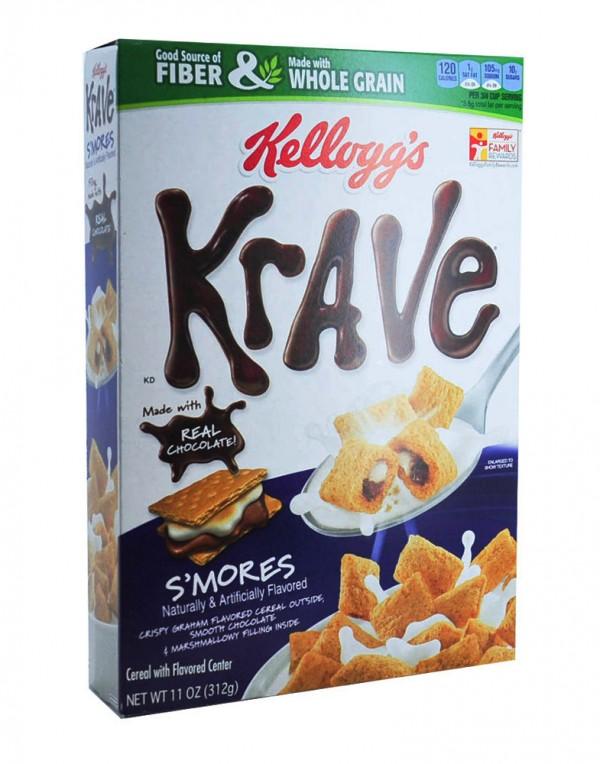 Kellogg's Krave 巧克力+棉花软糖夹心麦片 11oz-0