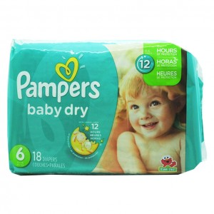 Pampers baby dry 尿不湿 18片-0