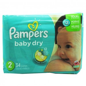 Pampers baby dry 尿不湿 34片-0