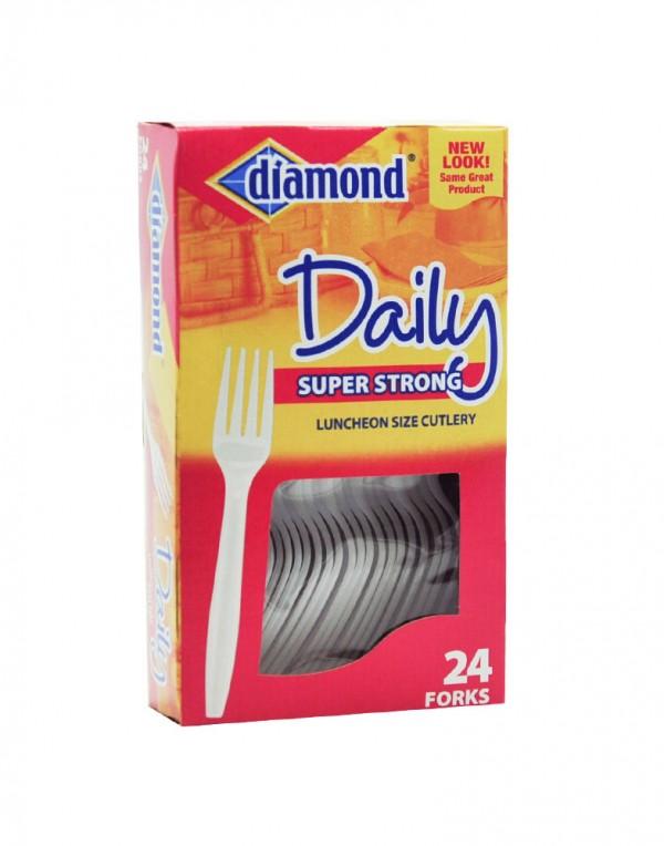 Diamond Daily 塑料叉子 24个-0