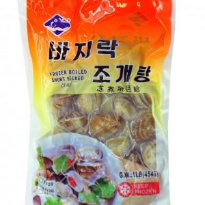 韩国 冻煮杂色蛤 454g-0