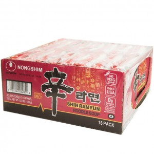 韩国方便面Nongshim 红色拉面整箱(16袋装)120g x 16-0
