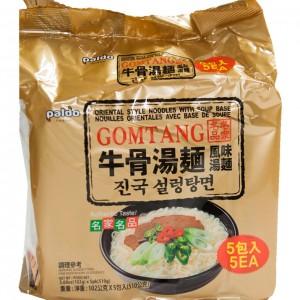 韩国 Paldo Gomtang 牛骨汤面整包(5袋装)102g x 5-0