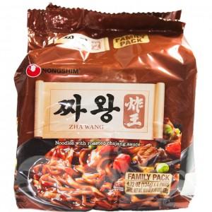 韩国方便面Nongshim 炸王炸酱泡面(4袋装)134g x 4-0