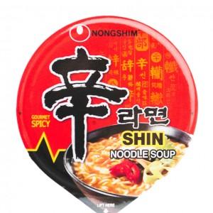 韩国方便面Nongshim 红色拉面小杯泡面 75g-0