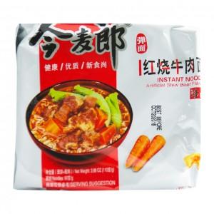 中国今麦郎 红烧牛肉面 (5包装)-0