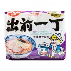 日本日清Nissin 出前一丁 酱油猪骨汤面 (袋装)100g-0