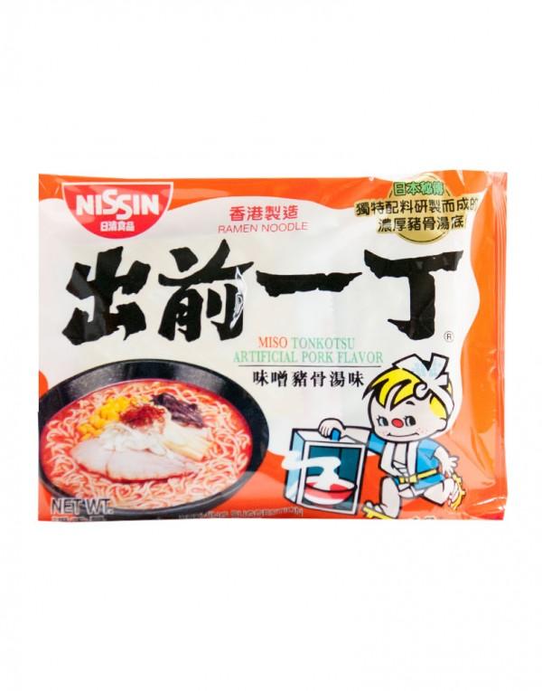 日本日清Nissin 出前一丁 味增猪骨汤面 (袋装)100g-0