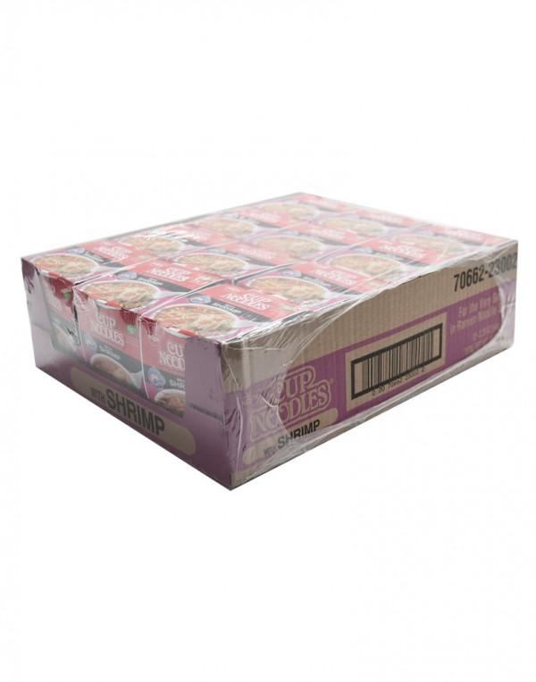 日本日清Nissin 鲜虾迷你杯面(整箱)64g x 12-0