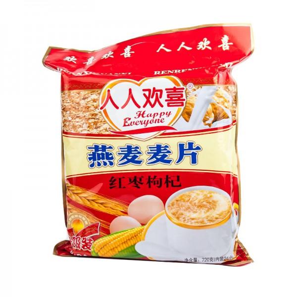 人人欢喜 燕麦麦片 红枣枸杞 720g-0