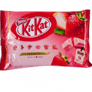 Nestle 草莓威化餅(粉紅) 4.7oz-0