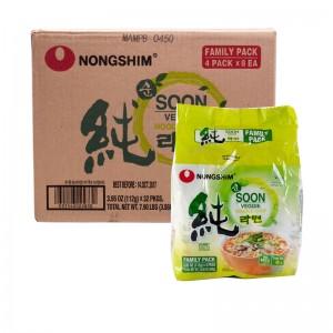 韩国方便面Nongshim 纯素面整箱(32袋装)112g x 32-0