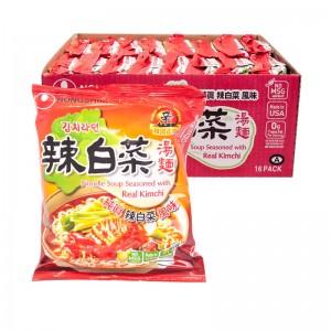 韩国方便面Nongshim 辣白菜汤面整箱(16袋装)120g x 16-0
