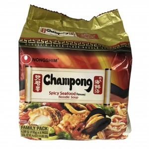 韩国方便面Nongshim 炒馬王-海鮮湯(130gX4pk)-0