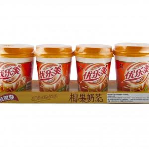 椰果奶茶(原味) 80gx4cup-0