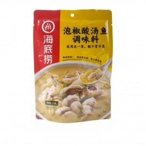 海底捞 泡椒酸汤鱼调味料 210g-0